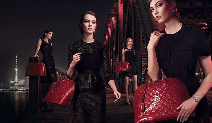 Сумки Alma bag в рекламной кампании Louis Vuitton