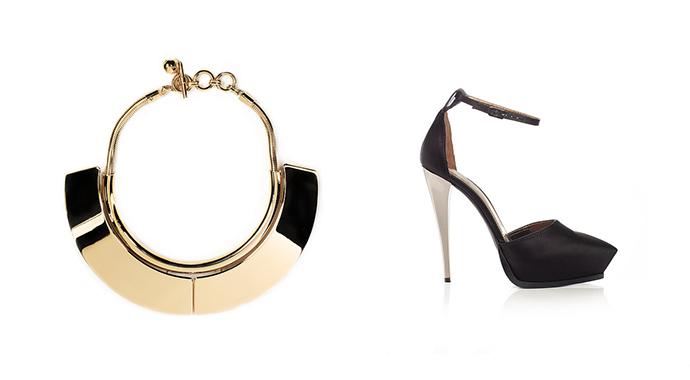 Ожерелье и туфли Lanvin