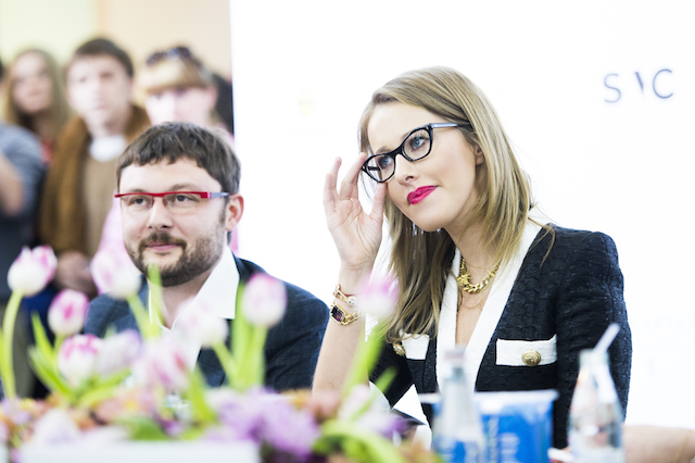 Василий Церетели и Ксения Собчак