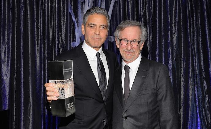 Джордж Клуни и Стивен Спилберг