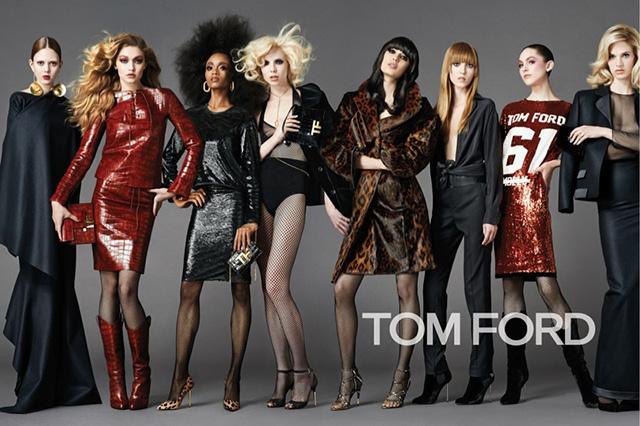 Сборная Тома Форда: рекламная кампания Tom Ford, осень-зима 2014 (фото 1)