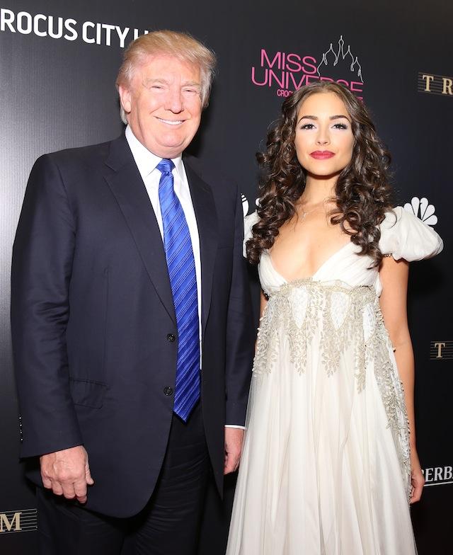 Дональд Трамп и Оливия Калпо
