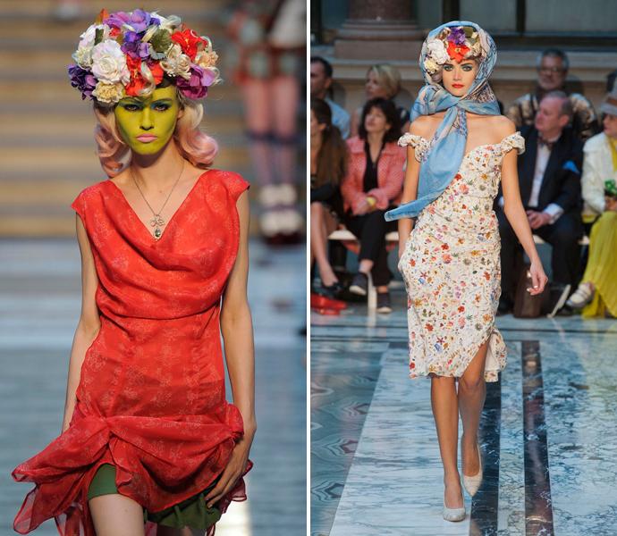 Тренд: цветочные ободки и венки (фото 17)