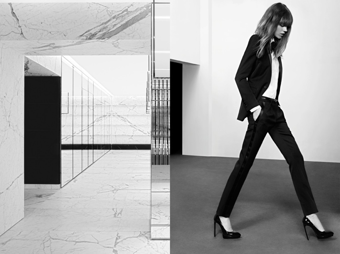 Фрея Беха Эриксен в Saint Laurent pre-fall 2013