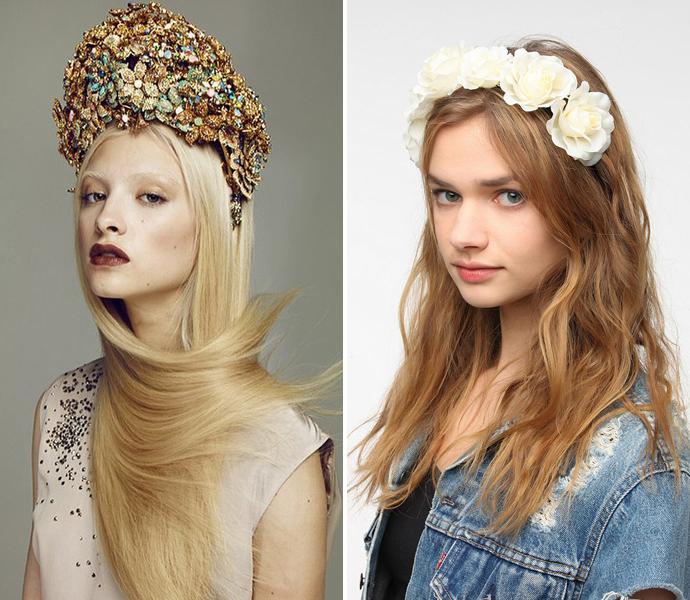 Тренд: цветочные ободки и венки (фото 22)