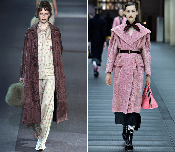 Каракуль Louis Vuitton и Miu Miu осень-зима 2013/14