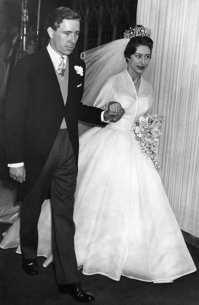 Принцесса Маргарет Роуз на свадьбе с Энтони Армстронг-Джонсом