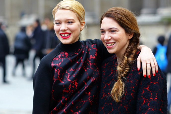 Топы Louis Vuitton на streetstyle-фотографиях