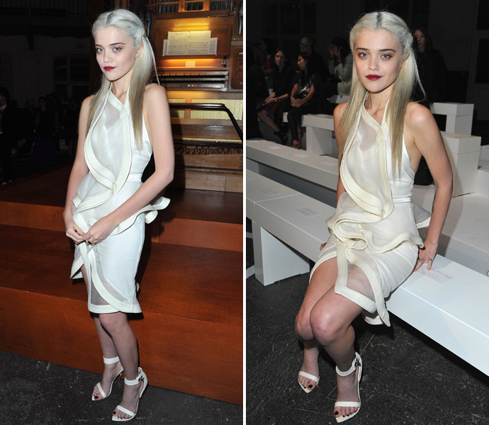 Скай Феррейра в белом платье