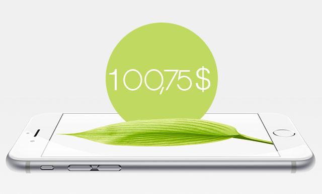 Стоимость акции apple по данным на