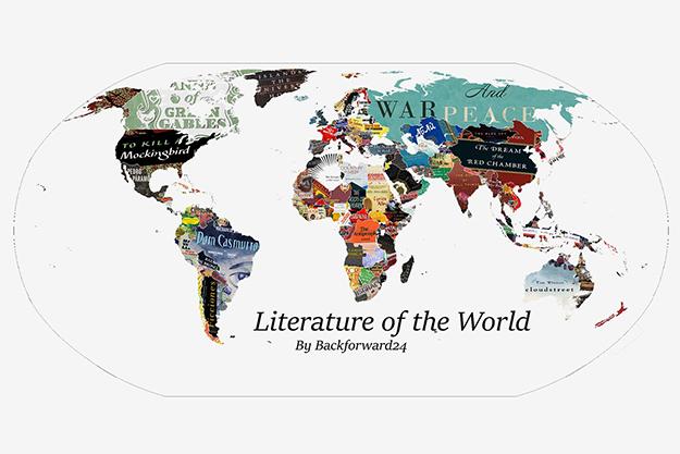 От Борхеса доТолстого: карта самых влиятельных книг совсего мира