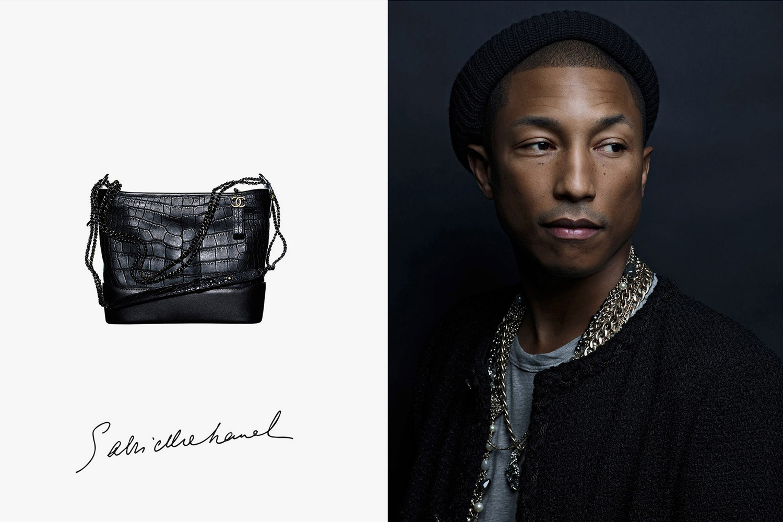 Фаррелл Уильямс снялся врекламе женской сумочки Chanel