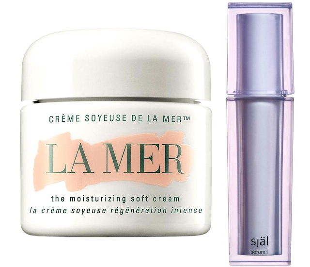Intense moisturizer La Mer and anti-aging serum Sjal Serum 1