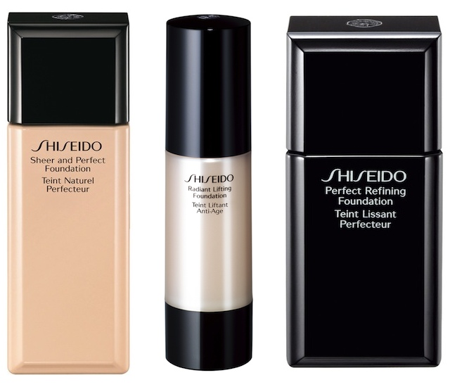 Sheer and Perfect Foundation, Radiant Lifting Foundation and Perfect Refining Foundation