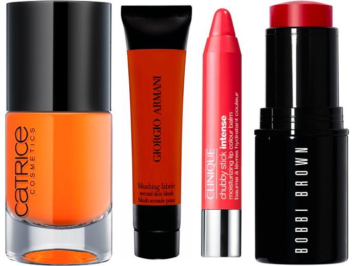 Оранжевая косметика