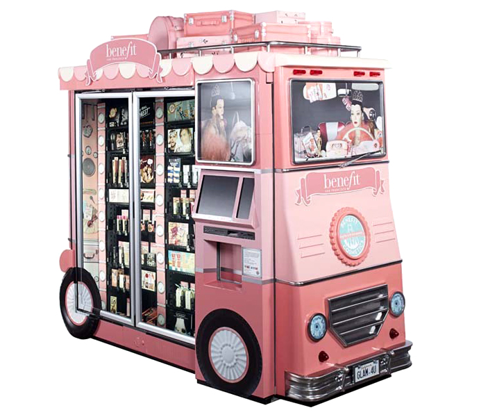 Benefit's Glam Up and Away airport kiosk-1