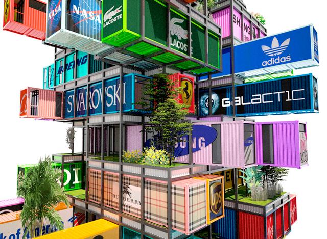 Отель из грузовых контейнеров Hive-Inn от OVA studio (фото 5)