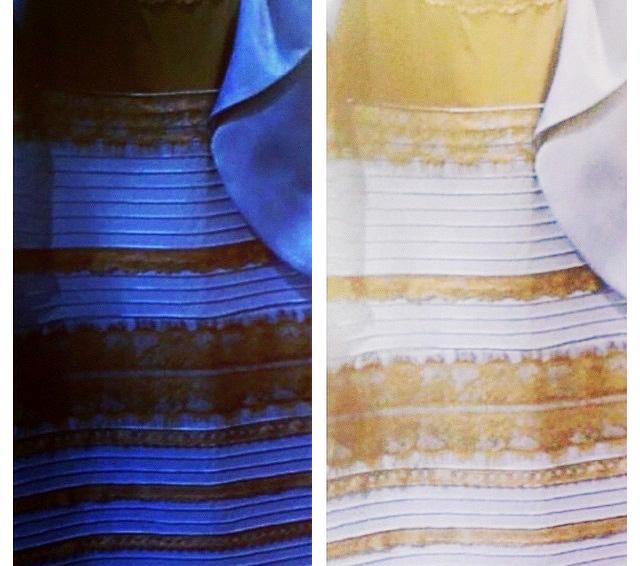 Бело золотое платья в чем прикол