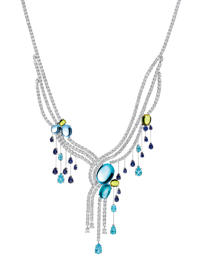 Water Collection Cabachon Fall Necklace