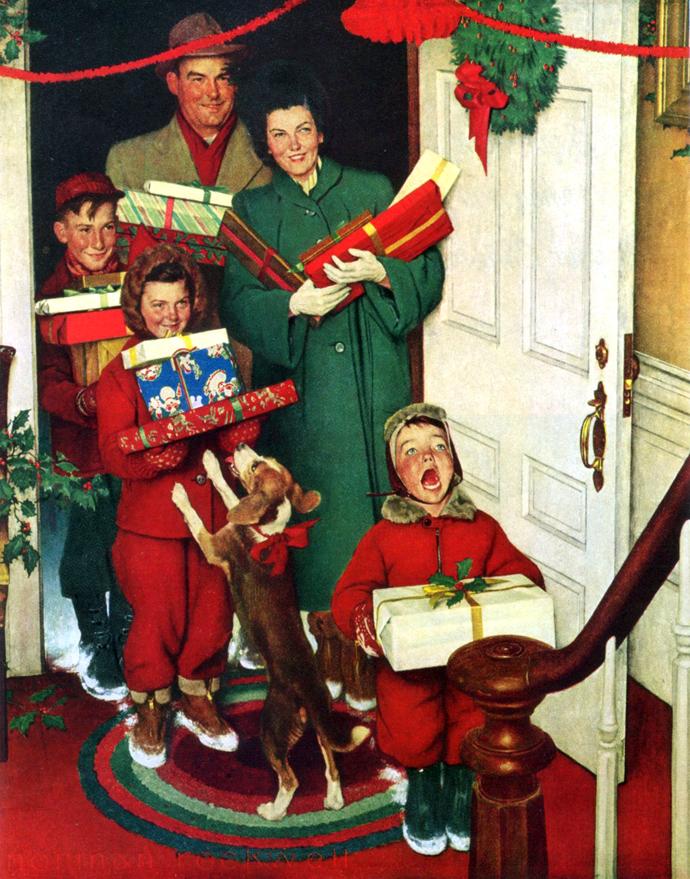 Норман Роквелл. Merry Christmas Grandma... We Came in Our ...: www.liveinternet.ru/users/4373400/post254676460