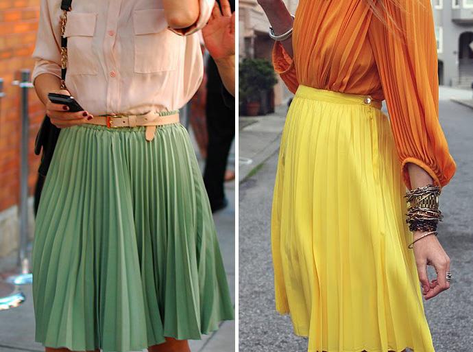 Описание: с чем носить юбку-плиссе.