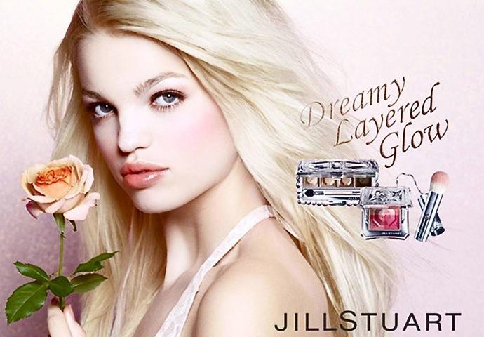 Дафна Грюнвельд в рекламе косметики Jill Stuart (фото 1)