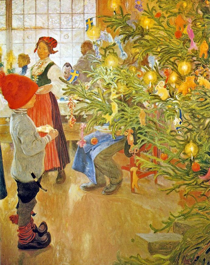 Новый год и Рождество в живописи (фото 20)