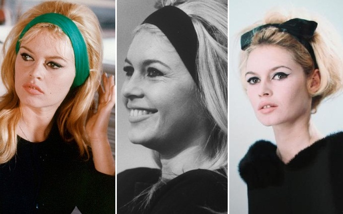 Прически 60-х годов с лентой