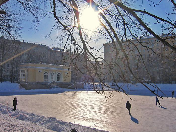Патриаршие пруды картинки зимой