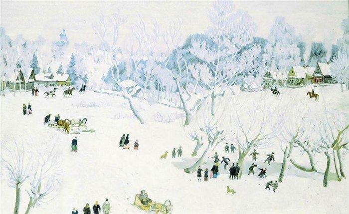 Новый год и Рождество в живописи (фото 5)