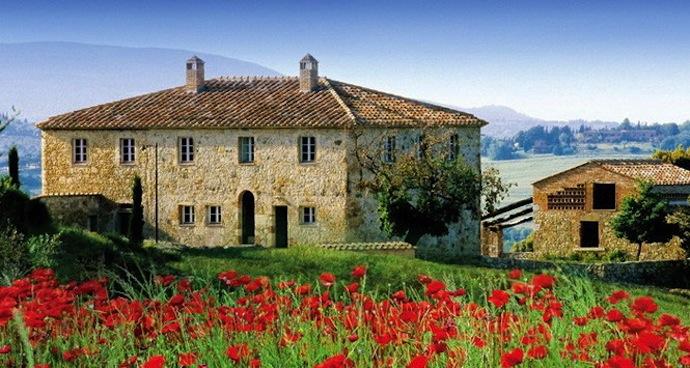 Старинный замок в садах Тосканы