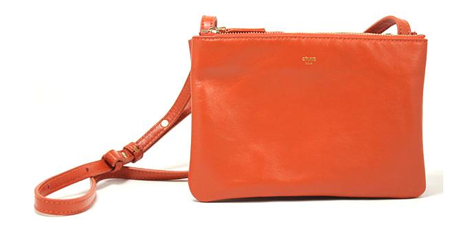 С чем носить оранжево-кофейную сумку от 'Сeline'