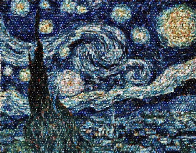Картина Ван Гога из космических фотографий (фото 1)