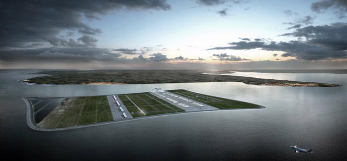 Плавучий аэропорт в устье Темзы (фото 1)