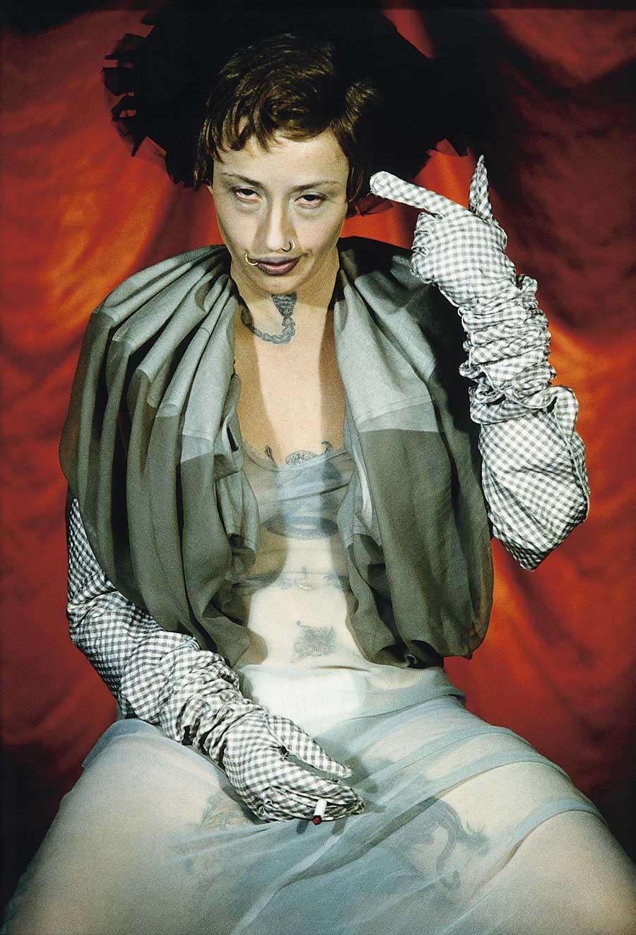 artist cindy sherman has taken modern society by the bullhorns