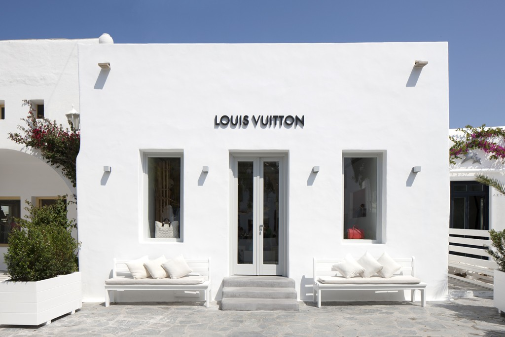 Pop-up shop Louis Vuitton на Миконосе