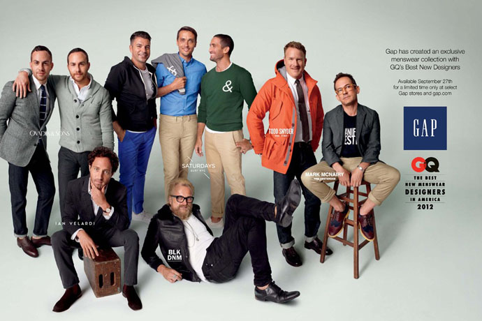 Коллаборация Gap и журнала GQ (фото 1)