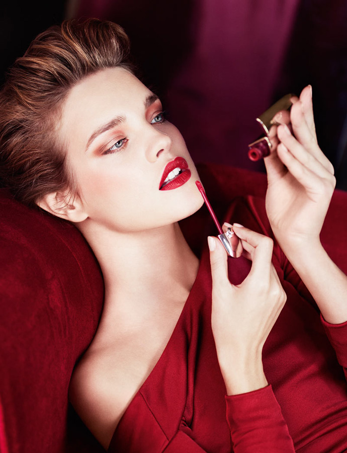 Наталья Водянова в рекламе Guerlain Rouge Shades