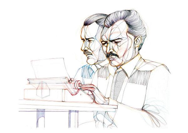 Знаменитые писатели за работой (фото 2)