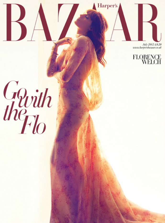 Флоренс Уэлч на обложке Harper's Bazaar UK (фото 1)