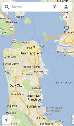Google выпустил новые карты для iPad и iPhone (фото 2)