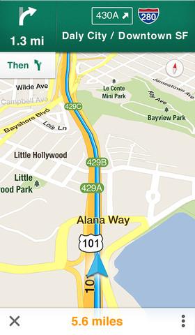 Google выпустил новые карты для iPad и iPhone (фото 3)