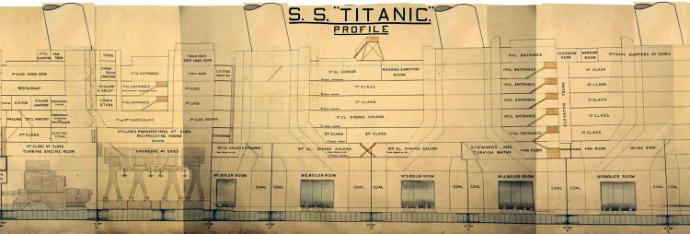 """Схему """"Титаника"""" выставили в"""