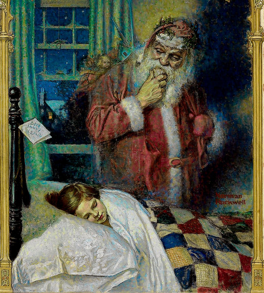 Новый год и Рождество в живописи (фото 21)