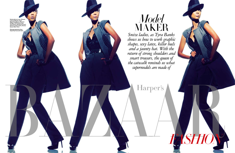 Тайра Бэнкс для январского Harper's Bazaar Singapore (фото 5)