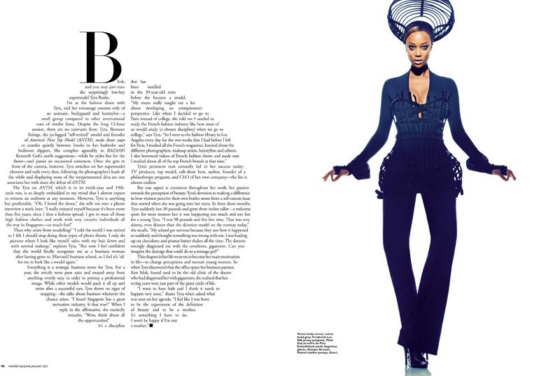 Тайра Бэнкс для январского Harper's Bazaar Singapore (фото 6)
