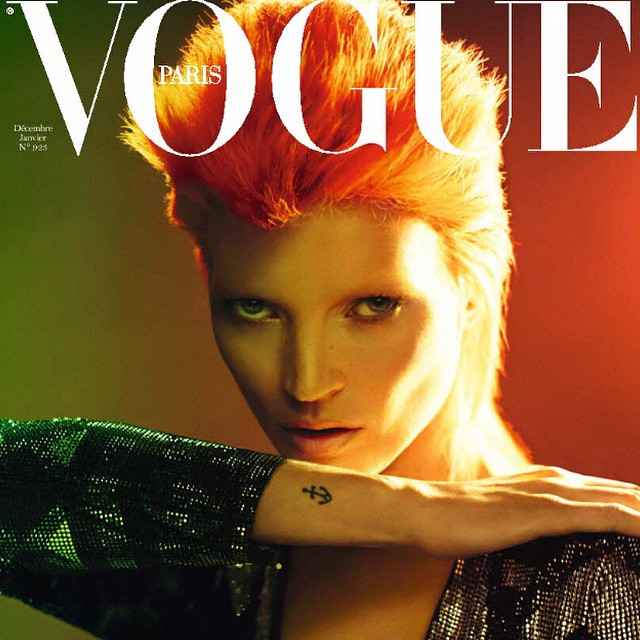 Nice memory of this cover of Kate Moss as Bowie for Vogue Paris shot by Mert and Marcus , december 2011. @mertalas @macpiggott