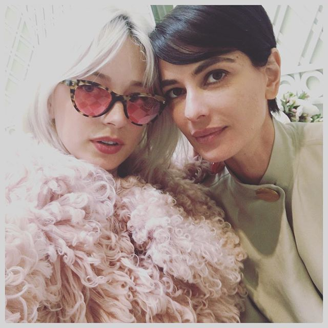 'I'm not wearing anything under this fur' she whispered in my ear #jimmychooxladuree #beverlyhills #ladieswholuncheon