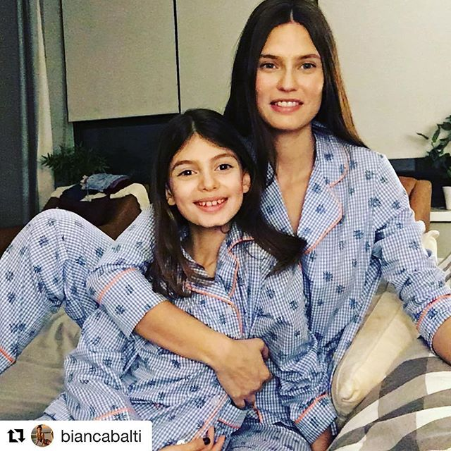 Can anyone look more Italian than this? @biancabalti and her #Valentine spread the love in #margheritaxyoox matching pjs #We     @margherita_kids #kidsinmargherita @yoox