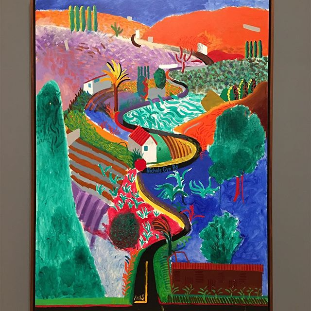 When I was 15, I spent a summer in #LosAngeles and lived on #NicholsCanyon - #DavidHockney , you brought me right down memory lane today